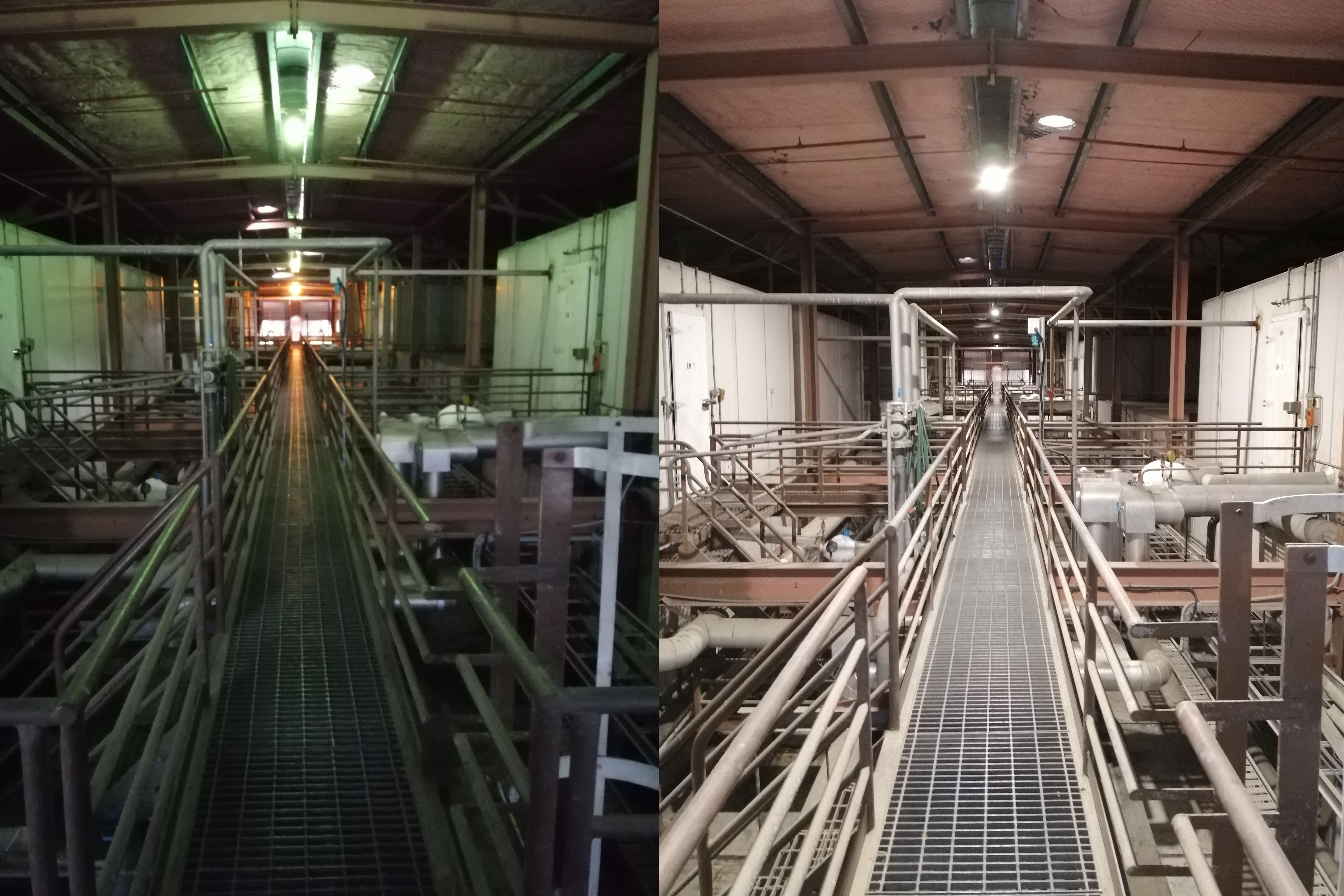Before and after CSN Cold Storage
